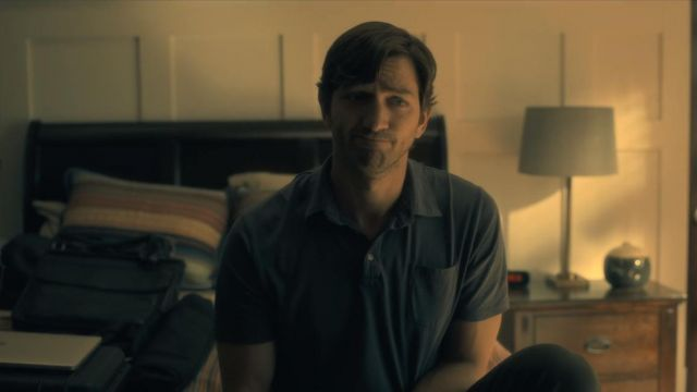 Polo Steven Crain (Michiel Huisman) seen in The Haunting of Hill House Season 1 Episode 1 - TV Show Outfits and Products