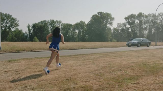 Pom-poms, blue sneakers of Veronica Lodge (Camila Mendes) seen in Riverdale Season 3 Episode 2 - TV Show Outfits and Products