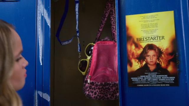 Poster for the film Firestarter in the locker Patty Bladell (Debby Ryan) Insatiable (Season 1 Episode 5) - TV Show Outfits and Products