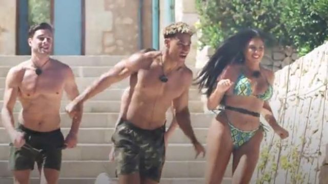 Pretty Little Thing Snake Print Bikini outfit worn by Anna Vakili in Love Island (Season05 Episode16) - TV Show Outfits and Products