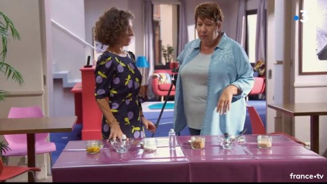 Print dress Mirta Torres (Sylvie Flepp) seen in a More beautiful life S15E3642 - TV Show Outfits and Products