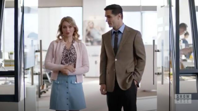Printed shirt Equipment outfit worn by Eve Teschmacher (Andrea Brooks) seen in Supergirl Season 4 Episode 3 - TV Show Outfits and Products