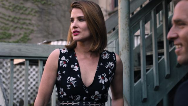 Fashion Trends 2021: Proenza Schouler Cutout Waist Floral Sleeveless Dress outfit seen on Lisa Turner (Cobie Smulders) in Friends from College S02E06