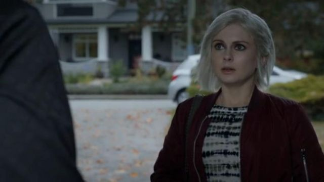 Proenza Schouler Long-Sleeve Tie-Dye T-Shirt outfit worn by Olivia Moore (Rose McIver) in iZombie (S05E07) - TV Show Outfits and Products