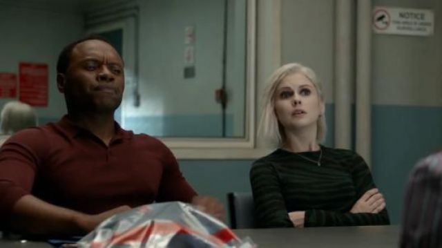 Proenza Schouler Tiger Print Long Sleeve T-Shirt outfit worn by Olivia Moore (Rose McIver) in iZombie (Season 05 Episode 06) - TV Show Outfits and Products