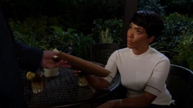 Proenza Schouler White Short Sleeve Sweaters outfit worn by Athena Grant (Angela Bassett) in 9-1-1 Season 03 Episode 07 - TV Show Outfits and Products