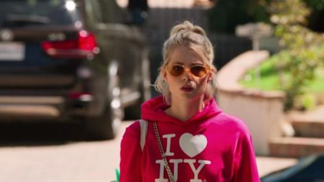 Quay As if! Orange Sunglasses outfit worn by Astrid (Lucy Boynton) in The Politician Season 1 Episode 4 - TV Show Outfits and Products