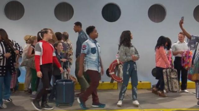 Qupid Leopard Lace Up Sneakers outfit worn by Navia Robinson in Raven's Home (S03E01) - TV Show Outfits and Products