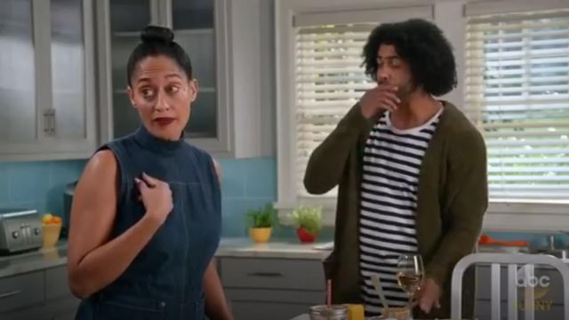Rachel Comey Badge Jumpsuit outfit worn by Rainbow Johnson (Tracee Ellis Ross) in black-ish (Season03 Episode09) - TV Show Outfits and Products