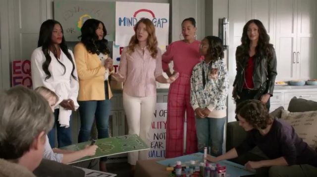 Rachel Comey Elio Plaid Pant outfit worn by Rainbow Johnson (Tracee Ellis Ross) in black-ish Season 6 Episode 3 - TV Show Outfits and Products