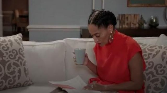 Rachel Comey Women's Augusta Stretch Crepe Top outfit worn by Rainbow Johnson (Tracee Ellis Ross) in black-ish Season 6 Episode 2 - TV Show Outfits and Products