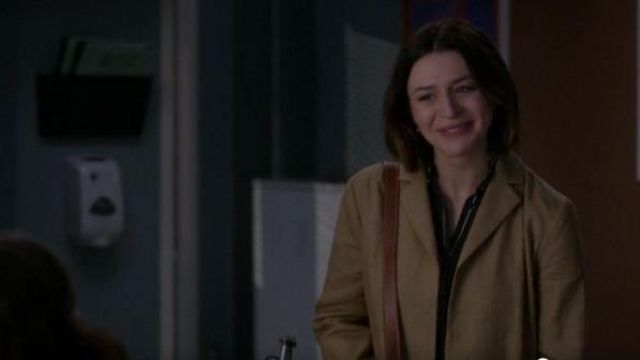 Rag & Bone Black Button austin shirt outfit worn by Dr. Amelia Shepherd (Caterina Scorsone) in Grey's Anatomy Season 16 Episode 01 - TV Show Outfits and Products
