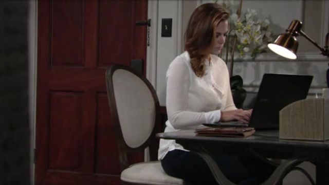 Rag & Bone Button Up Mesh Top outfit worn by Gina Tognoni as seen in The Young and the Restless May 2019 - TV Show Outfits and Products