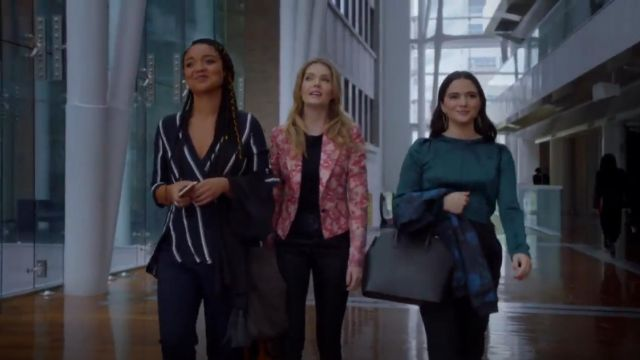 Rag & Bone Debbie Wrap Effect Striped Silk Crepe De Chine Top outfit worn by Kat Edison (Aisha Dee) in The Bold Type (S03E07) - TV Show Outfits and Products