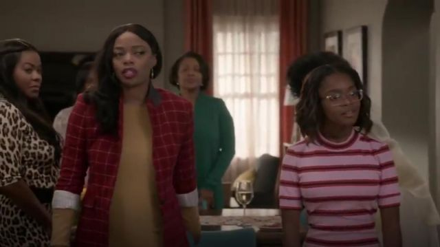 Rag & Bone Hazel Check Blazer outfit worn by (Jill Marie Jones) in black-ish Season 6 Episode 3 - TV Show Outfits and Products