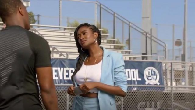 Rag & Bone Lucy Blazer outfit worn by Rochelle Mosley (Kayla Smith) in All American Season 2 Episode 1 - TV Show Outfits and Products