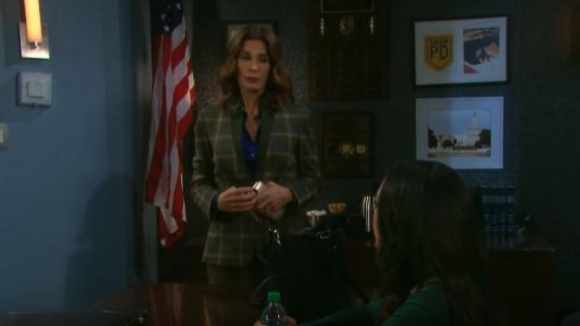 Rag & Bone Naomi Check Blazer outfit worn by Hope Brady (Kristian Alfonso) as seen on Days of Our Lives May 14, 2019 - TV Show Outfits and Products