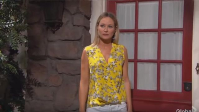 Rag & Bone Victor Blouse outfit worn by Sharon Collins Newman (Sharon Case) as seen in The Young and the Restless May 24, 2019 - TV Show Outfits and Products