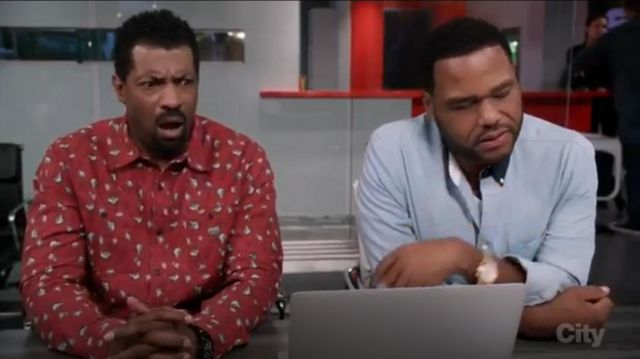 Rag & Bone Yokohama Long Sleeve Chambray Shirt outfit worn by Andre 'Dre' Johnson (Anthony Anderson) in black-ish (S03E03) - TV Show Outfits and Products