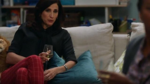 Rag & bone Red Simone Pants outfit worn by Delia (Michaela Watkins) in The Unicorn Season 01 Episode 06 - TV Show Outfits and Products