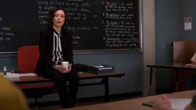 Rails Black and White Aly Striped Shirt outfit worn by Professor Judd (Sara Gilbert) in Atypical Season3 Episode 5 - TV Show Outfits and Products
