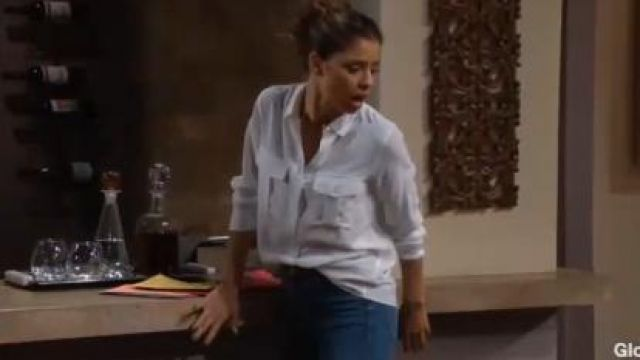 Rails Rhett Shirt outfit worn by Brytni Sarpy as seen in The Young and the Restless June 17,2019 - TV Show Outfits and Products