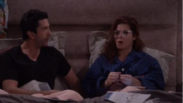Ralph Lauren Harwich Plaid Pajama Shirt outfit worn by Grace Adler (Debra Messing) in Will & Grace (S02E16) - TV Show Outfits and Products