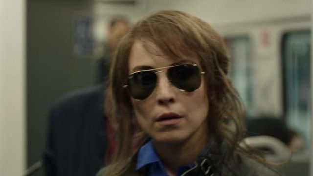 Ray-Ban Aviator sunglasses outfit worn by Harriet Baumann (Noomi Rapace) in Tom Clancy's Jack Ryan (S02E05) - TV Show Outfits and Products