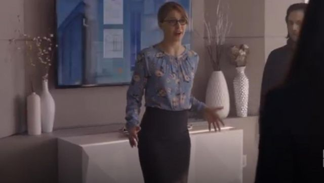 Rebecca Taylor Daniella Silk Blend Top outfit worn by Kara Danvers (Melissa Benoist) in Supergirl (S04E22) - TV Show Outfits and Products