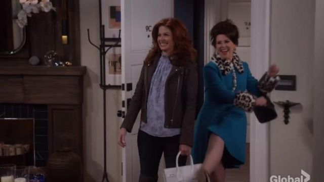 Rebecca Taylor Rose Jacquard Top outfit worn by Grace Adler (Debra Messing) in Will & Grace (S01E11) - TV Show Outfits and Products