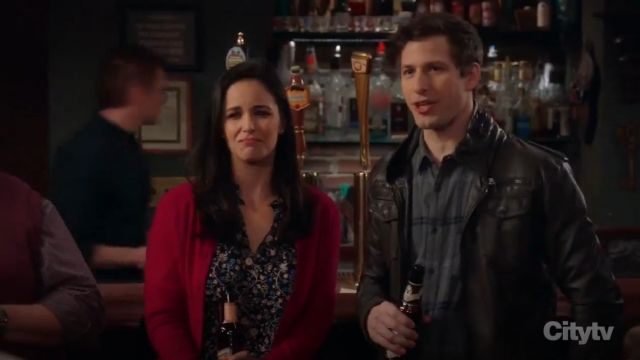 Rebecca Taylor Vivianna Vine Jacquard Silk Top outfit worn by Amy Santiago (Melissa Fumero) in Brooklyn Nine-Nine (S06E18) - TV Show Outfits and Products