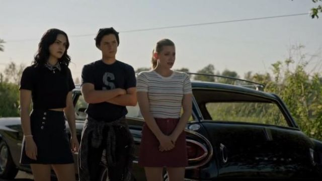 Red Corduroy Skirt outfit worn by Betty Cooper (Lili Reinhart) in Riverdale Season 4 Episode 1 - TV Show Outfits and Products