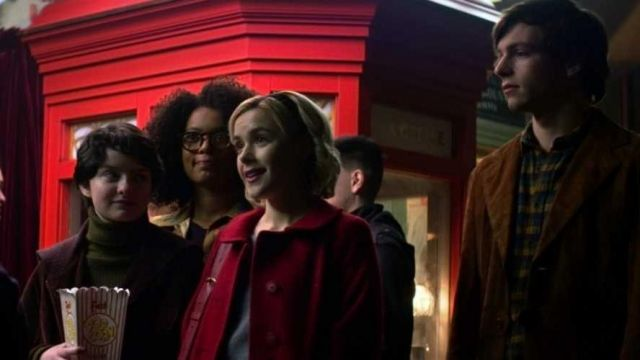 Red coat outfit worn by Sabrina Spellman (Kiernan Shipka) seen in The New Adventures of Sabrina Season 1 Episode 1 - TV Show Outfits and Products