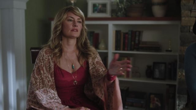 Fashion Trends 2021: Red dress asymmetrical BCBGMAXAZRIA outfit worn by Alice Cooper (Mädchen Amick) seen in Riverdale (Season 3 Episode 3)
