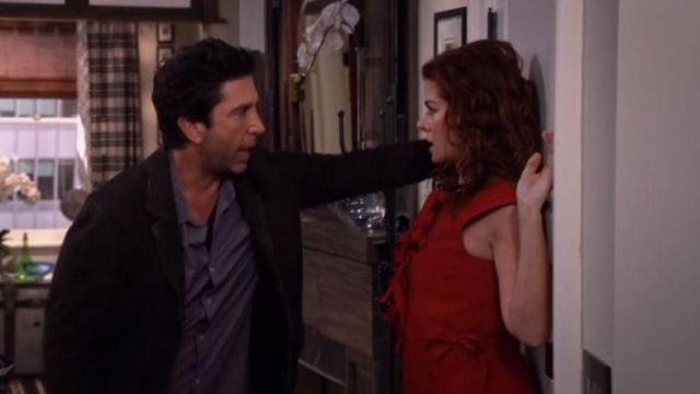 Red dress of Grace Adler (Debra Messing) on Will & Grace (Season 2 Episode 3) - TV Show Outfits and Products