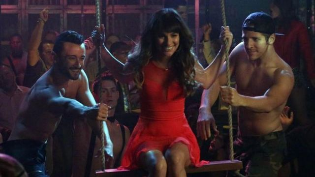 Red dress of Rachel Berry (Lea Michele Sarfati) seen in Glee Season 5E17 - TV Show Outfits and Products