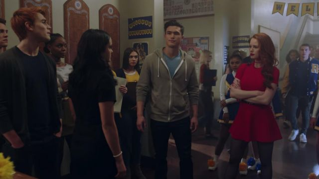 Red dress outfit worn by Cheryl Blossom (Madelaine Petsch) seen in Riverdale Season 2E10 - TV Show Outfits and Products