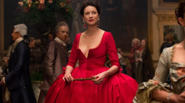 Red dress outfit worn by Claire Fraser (Caitriona Balfe) seen in Outlander Season 2 Episode 3 - TV Show Outfits and Products