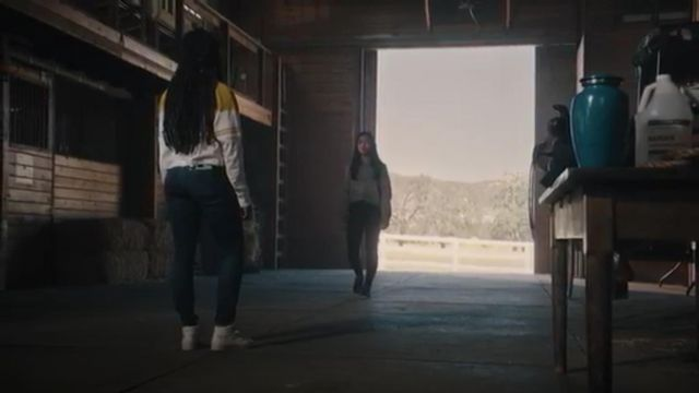 Reebok Freestyle Hi white outfit worn by Peri Boudreaux (Adriyan Rae) in Light as a Feather Season 2 Episode 16 - TV Show Outfits and Products