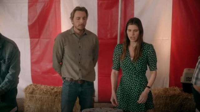 Reformation Lucky Wrap Dress outfit worn by Rio (Lake Bell) in Bless This Mess (S01E06) - TV Show Outfits and Products