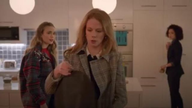 Reiss Grey Eden coat outfit worn by Gemma (Zoe Boyle) in Four Weddings and a Funeral Season 1 Episode 4 - TV Show Outfits and Products