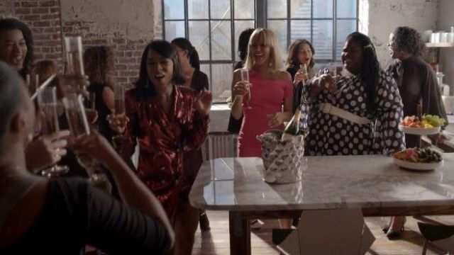 Retrofete Red sequin Blazer Dress outfit worn by Tiana Brown (Serayah McNeill) in Empire Season 06 Episode 05 - TV Show Outfits and Products