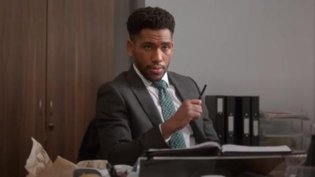 Richard James Mayfair Grey wool flannel suit jacket outfit worn by Craig (Brandon Mychal Smith) in Four Weddings and a Funeral Season 1 Episode 4 - TV Show Outfits and Products