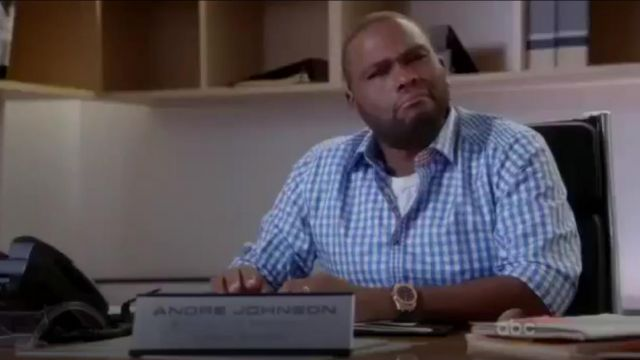 Robert Graham Bugspray Long Sleeve Woven Shirt outfit worn by Andre 'Dre' Johnson (Anthony Anderson) in black-ish (Season 01 Episode 01) - TV Show Outfits and Products