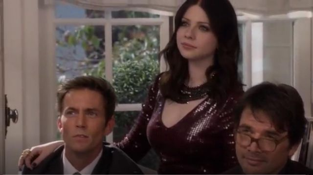 Robert Rodriguez Sequin Mini outfit worn by Michelle Trachtenberg in Gossip Girl (S06E10)