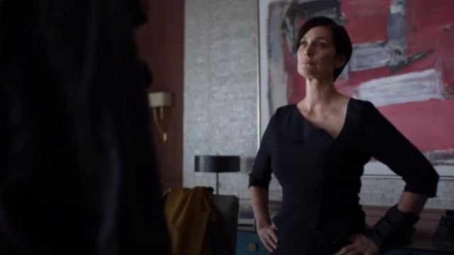 Roland Mouret Dunne Dress outfit worn by Jeri Hogarth (Carrie-Anne Moss) in Marvel's Jessica Jones (Season 03 Episode 07) - TV Show Outfits and Products