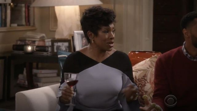 Fashion Trends 2021: Roland Mouret Harthill Top outfit seen on Rose (Sheryl Lee Ralph) in Fam S01E01