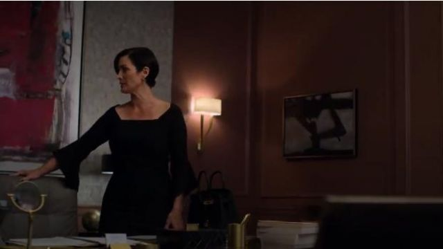 Roland Mouret Hitchcock Dress outfit worn by Jeri Hogarth (Carrie-Anne Moss) in Marvel's Jessica Jones (Season 03 Episode 09) - TV Show Outfits and Products