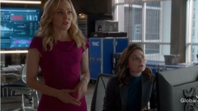 Roland Mouret Pink Folded Neck Dress outfit worn by Marissa Morgan (Geneva Carr) in Bull Season 04 Episode 07 - TV Show Outfits and Products