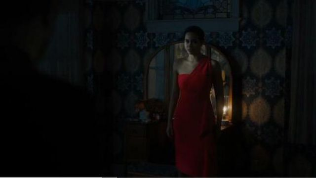 Roland Mouret Red One-Shoulder Dress outfit worn by Macy Vaughn (Madeleine Mantock) in Charmed Season 2 Episode 6 - TV Show Outfits and Products